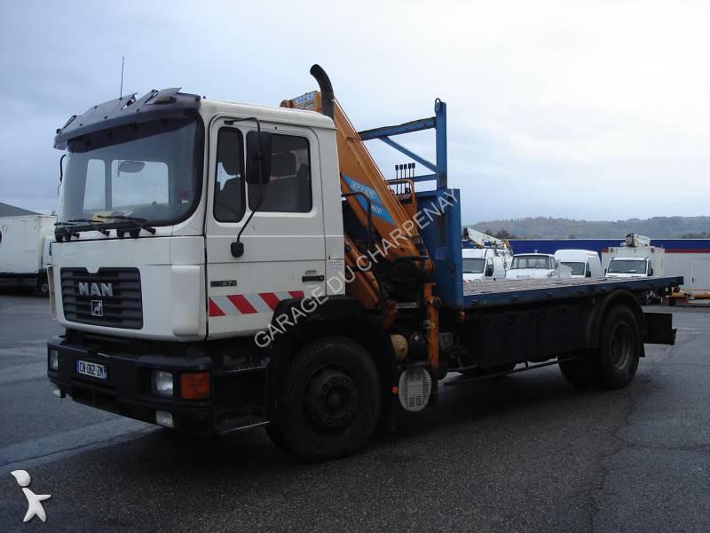 camion man plateau gazoil euro 1 grue occasion n 1230445. Black Bedroom Furniture Sets. Home Design Ideas