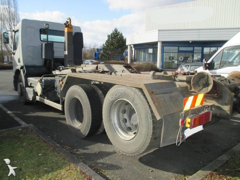 Camion renault polybenne hiab premium lander 370 dci 6x2 for Garage renault saint denis