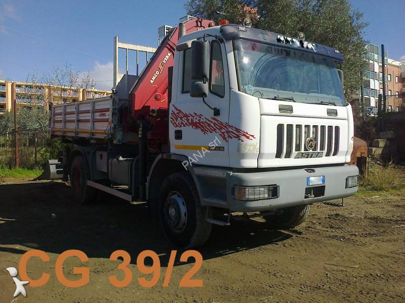 Camion astra ribaltabile hd7 4x2 euro 3 gru autogr usato - Portata massima camion italia ...