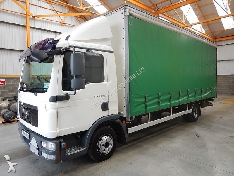 camion man rideaux coulissants plsc tgl 7 5 tonne curtainsider 2010 sv60 awm euro 4. Black Bedroom Furniture Sets. Home Design Ideas