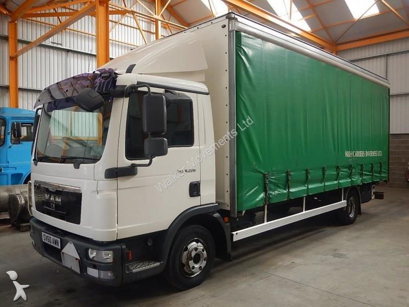 camion man rideaux coulissants plsc tgl 7 5 tonne curtainsider 2010 sv60 awn euro 4. Black Bedroom Furniture Sets. Home Design Ideas