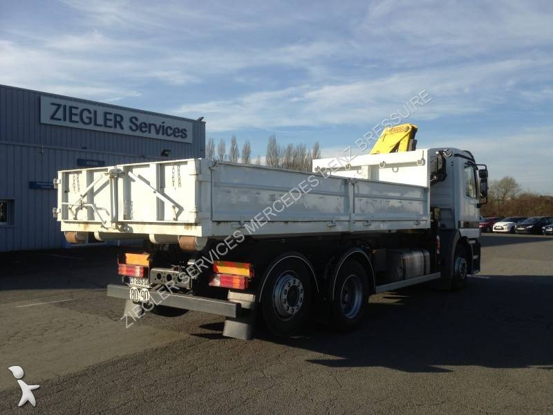 Camion mercedes polybenne marrel actros 2535 6x2 euro 2 grue occasion n 1552480 - Garage mercedes bressuire ...