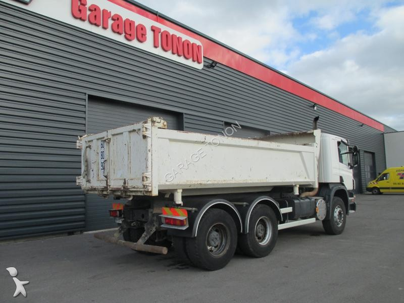 Camion scania bi benne cif p 380 6x4 gazoil euro 4 for Garage julien pizancon occasion