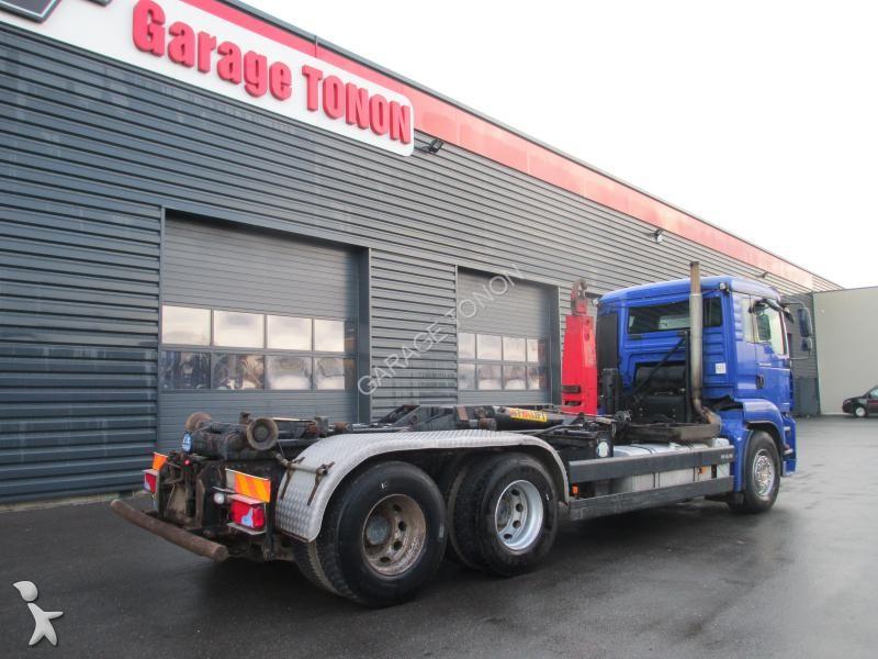 Camion man polybenne tga 6x2 gazoil euro 4 occasion for Garage julien pizancon occasion
