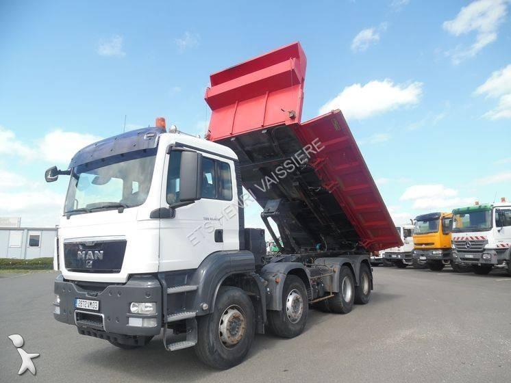 Camion man bi benne forez bennes tgs 8x4 euro 4 for Porte universelle benne