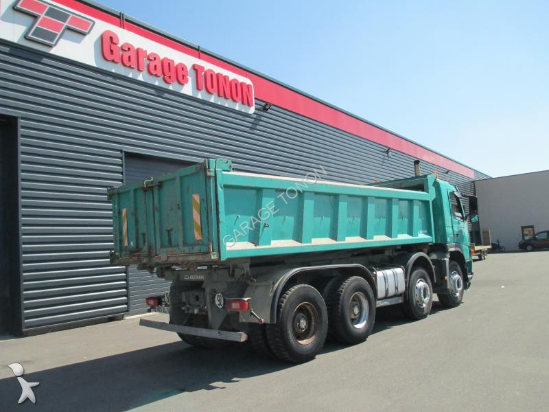 Camion volvo bi benne fm12 380 8x4 gazoil euro 3 occasion for Garage julien pizancon occasion