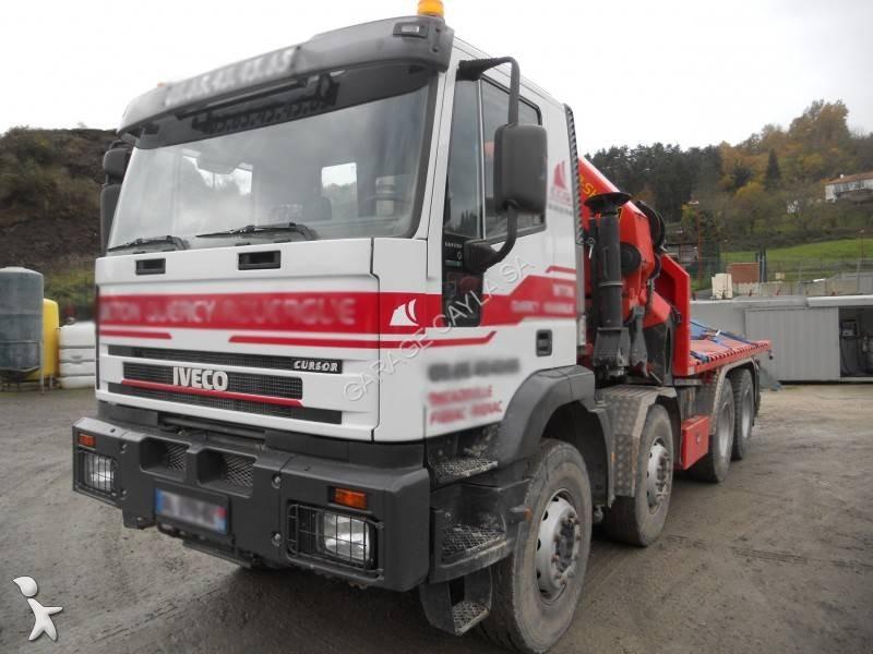 camion iveco plateau eurotrakker 340e44 8x4 gazoil euro 3 grue occasion n 1806290. Black Bedroom Furniture Sets. Home Design Ideas