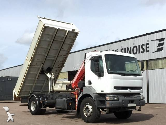 Camion renault benne kerax 270 dci 6x2 gazoil euro 3 grue for Porte universelle benne