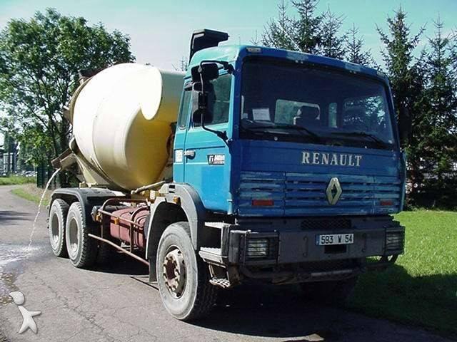camion renault b ton malaxeur pompe gamme g 340 6x4 nc. Black Bedroom Furniture Sets. Home Design Ideas