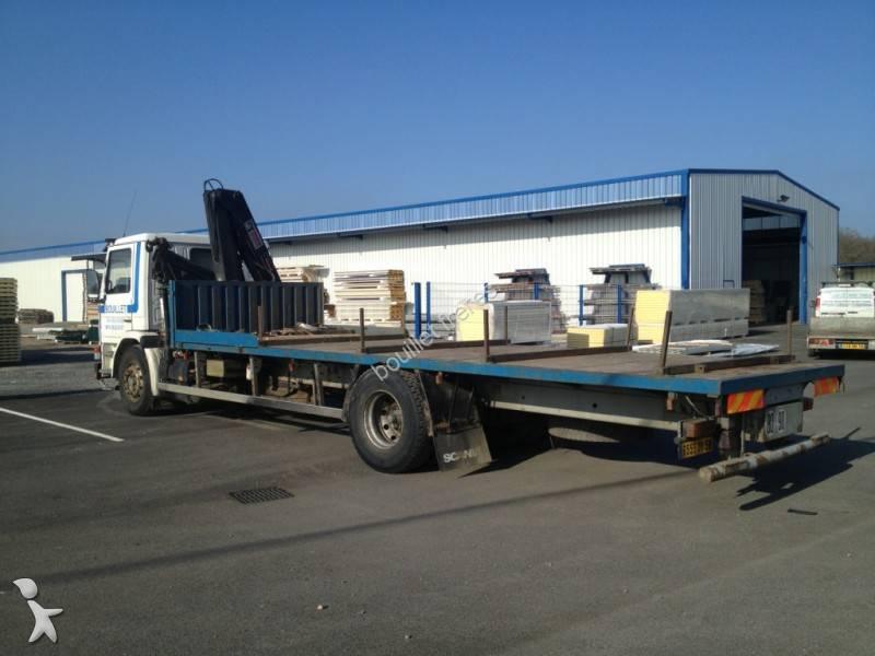 Camion scania plateau porte fer m 93m250 4x2 gazoil euro 1 for Porte en ferraille