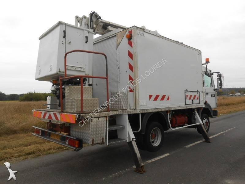 camion renault piattaforma aerea articolata telescopica midliner 180 4x2 gasolio euro 2 usato. Black Bedroom Furniture Sets. Home Design Ideas