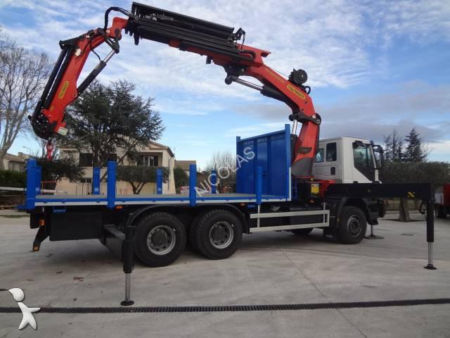 camion iveco plateau trakker ad 260 t 33 b 6x4 gazoil euro 5 grue neuf n 1195445. Black Bedroom Furniture Sets. Home Design Ideas