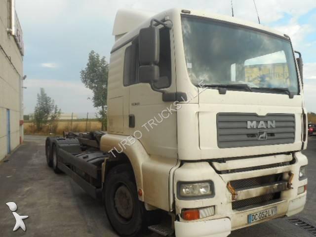 Camion man porte containers tg 360 a 8x2 gazoil euro 3 - Camion porte container avec grue occasion ...