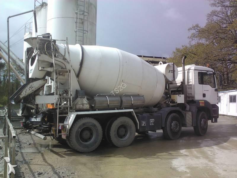 Camion man b ton toupie malaxeur tga 8x4 occasion - Camion toupie beton ...