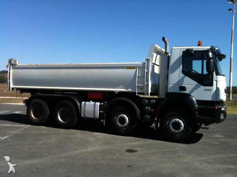camion bi benne occasion iveco trakker 340 t 41 marrel. Black Bedroom Furniture Sets. Home Design Ideas