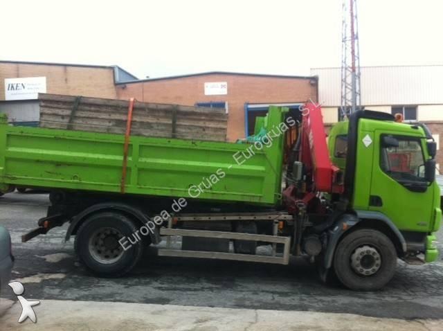 Camion daf porte containers lf55 fa 250 4x2 euro 4 grue - Camion porte container avec grue occasion ...