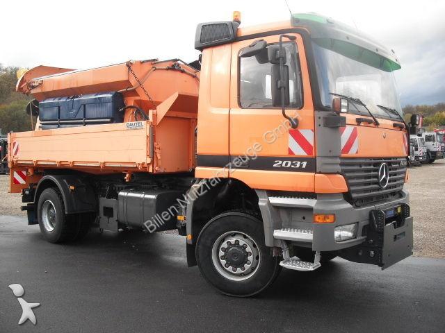 camion mercedes benne 2031ak 4x4 wechselsystem autobahn winterdienst 4x4 gazoil euro 3 occasion. Black Bedroom Furniture Sets. Home Design Ideas