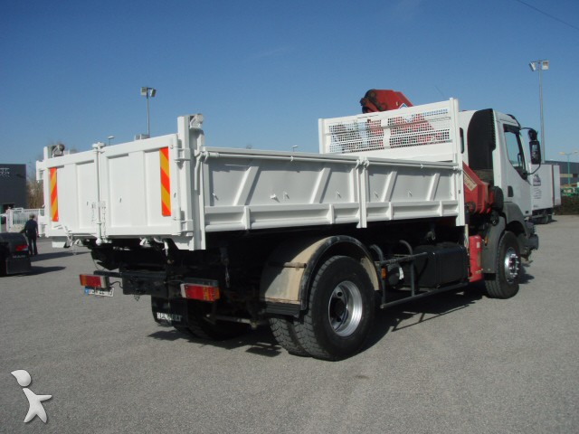 Camion renault benne marrel kerax 270 dci 4x2 gazoil euro 3 grue occasion n 1141390 - Garage renault cavaillon ...