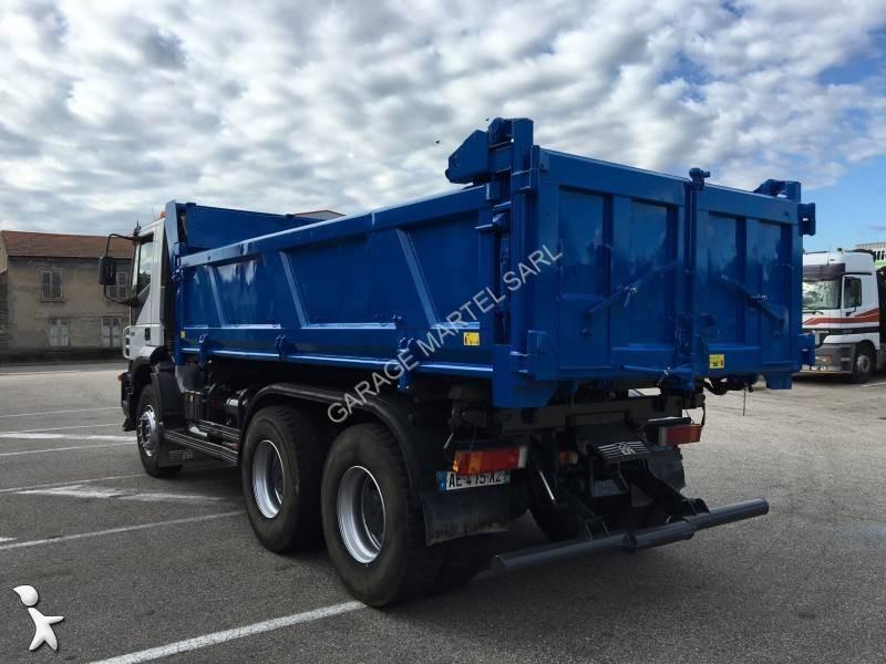 Camion iveco bi benne marrel trakker 380 6x4 gazoil euro 4 for Garage martel grigny