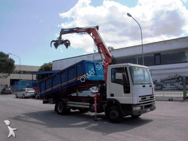 Camion iveco ribaltabile eurocargo 110e21 gasolio gru - Portata massima camion italia ...