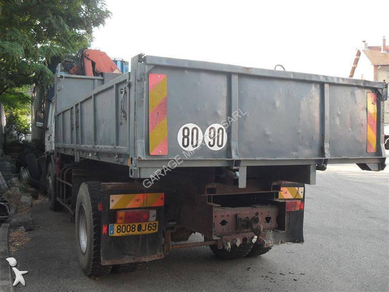Camion renault benne marrel gamme g 280 4x2 grue occasion for Garage martel grigny