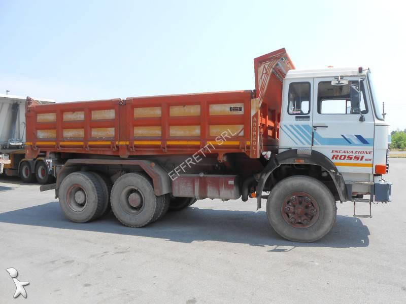 Camion iveco tri benne 6x4 gazoil euro 0 occasion for Effretti usato