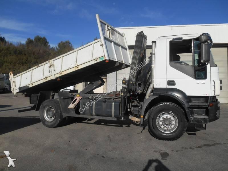 Camion iveco benne tp trakker 310 4x2 gazoil euro 4 grue for Porte universelle benne