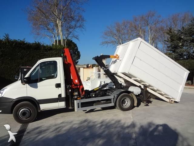 camion iveco polybenne daily 70c15v 4x2 gazoil euro 5 grue. Black Bedroom Furniture Sets. Home Design Ideas
