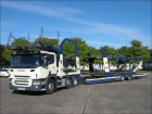 camion remorque Scania P420 LOHR 11 CAR DRAW BAR TRANSPORTER 2007 WX56 EUB