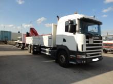 camion remorque plateau ridelles Scania occasion