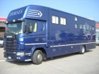 camion cu remorca transport animale Scania second-hand