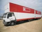 camión remolque furgón MAN usado