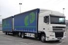 camion cu remorca cu prelata si obloane camion cu prelata culisanta si obloane DAF second-hand