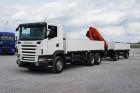 camion cu remorca platformă standard Scania second-hand