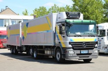 used Mercedes mono temperature refrigerated trailer truck