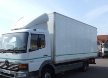 used Mercedes standard box trailer truck