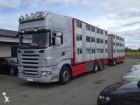 camión remolque para ganado Scania usado