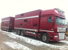 camion cu remorca transport animale DAF second-hand