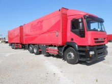used Iveco folding wall box trailer truck