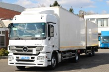 used Mercedes folding wall box trailer truck