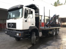 used MAN timber trailer truck