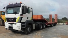 MAN heavy equipment transport trailer truck