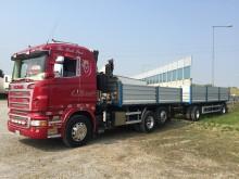 autotreno ribaltabile trilaterale Scania usato