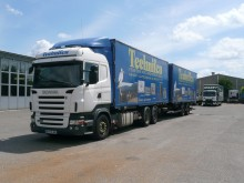 camion remorque porte containers occasion