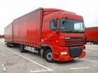 camion cu remorca cu prelata si obloane DAF second-hand