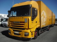 used Iveco plywood box trailer truck