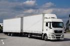 camion cu remorca benă MAN second-hand