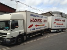 used DAF moving box trailer truck