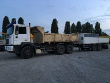 used MAN three-way side tipper trailer truck