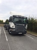 used Scania hook lift trailer truck